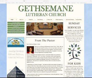 Gethsemane Lutheran Church developed by Online Marketing Resources