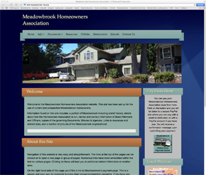 Meadowbrook Homeowners Association Website