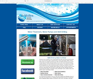 McMullen Water Website Developed by Online Marketing Resources